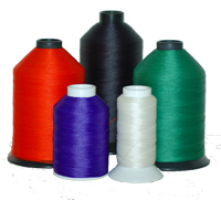 Polyester thread the best choice ourdoor sewing. We have eleven thicknesses, hundreds of colors, and spool sizes from 2 Oz to 100 Lbs
