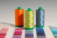 Aurifil 40-weight cotton on large spools