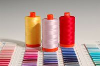 Aurifil 50 weight cotton on large spools