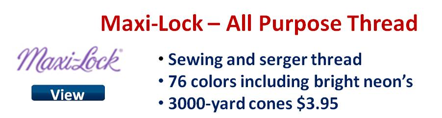 Maxi-Lock all purpose sewing and serger thread