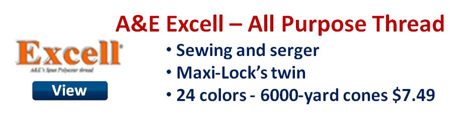 A&E Excell all purpose sewing and serger thread.