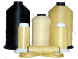 Super strong, fire retardant Kevlar thread in 11 sizes. Spools from 1/2 ounce to 100 pounds