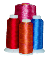 Variegated embroidery thread