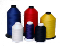 Nylon thread in eleven thicknesses and hundreds of colors. Available in mini spools, regular spools, and cases