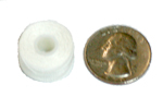 Style A / Type 15 bobbin compared to U.S. quarter