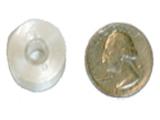 Style L bobbin compared to U.S. quarter