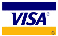 Pay with Visa. For your safety we do not keep any credit information on our site