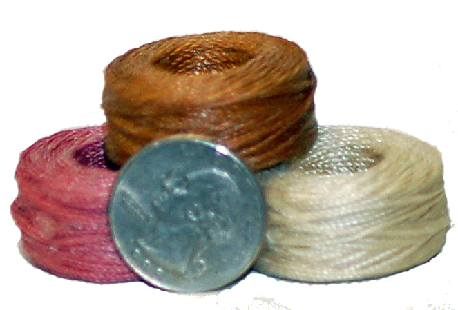 waxed thread coils